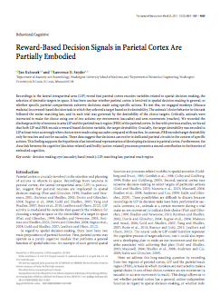 Reward-based decision signals in parietal cortex are partially embodied.