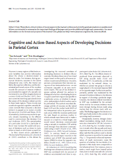 Cognitive and action-based aspects of developing decisions in parietal cortex.